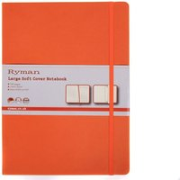 Ryman Soft Cover Notebook Large Ruled 192 Pages 96 Sheets, Orange at Ryman Stationery