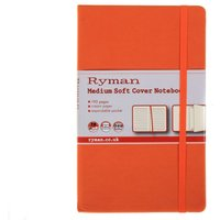 Ryman Soft Cover Notebook Medium Ruled 192 Pages 96 Sheets, Orange at Ryman Stationery