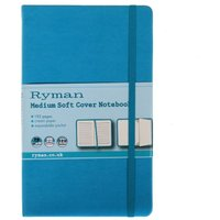 Ryman Soft Cover Notebook Medium Ruled 192 Pages 96 Sheets, Teal