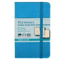 Ryman Soft Cover Notebook Pocket 192 Pages 96 Sheets, Teal at Ryman Stationery