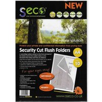 Image of Seco Biodegradable Security Cut Flush Folder A4 Pack of 10