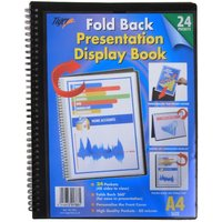 Tiger Presentation Display Book 24 Pocket, Black