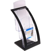 Deflecto Contemporary Leaflet Counter Top Literature Holder, Black