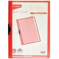 Ryman Clipfile A4 30 Sheet Assorted, Assorted