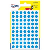 Avery Self Adhesive Labels Dots 8mm Pack of 490, Blue