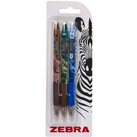 Image of Zebra Z-Grip Smooth Ballpoint pens Camo Pack of 3