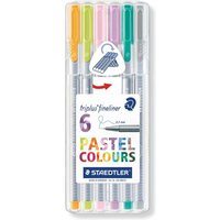 Staedtler Triplus Fineliner Pack Of 6 Pastel at Ryman Stationery
