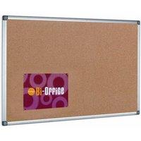 Image of Bi-Office Cork Notice Board 600x450mm Aluminium