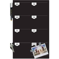Securit Silhouette Chalkboard Week Planner with Marker