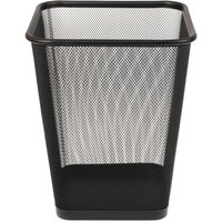 Wiremesh Square Waste Bin Regular, Black