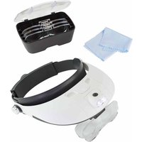 Lightcraft Pro LED Headband Magnifier Set 5 Interchangeable Lenses