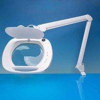 Lightcraft LED Wide Lens Magnifier Lamp, White