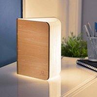 Gingko Large Smart Wooden Book Light  Maple