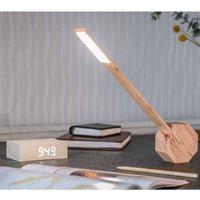 Gingko Octagon One Desk Lamp  Maple