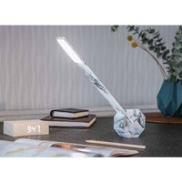 Gingko Octagon One Desk Lamp  Marble