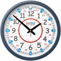 EasyRead Classroom Time Teaching Wall Clock 24 Hour 35cm
