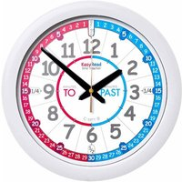 EasyRead Time Teaching Wall Clock Past and To 29cm