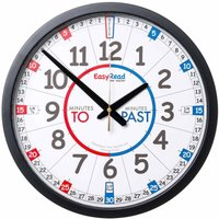 EasyRead Playground Time Teaching Wall Clock Past and To 36cm