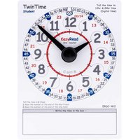 EasyRead Tell the Time Student PVC Cards 24 Hour Clock Pack of 10