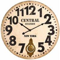 Premier Housewares Vintage Style Wall Clock 58cm, white