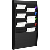 Fast Paper Wall Mounted Leaflet Dispenser 20 x A4, Black