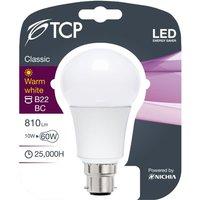 TCP LED Opal A Lamp 60w 810lm Warm White  Warm White