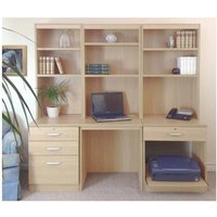 R White Home Office Desk Workstation, Beech