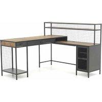 Teknik Office Boulevard L Shaped Desk, Black