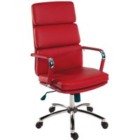 Teknik Office Deco Executive Retro Style Chair Red, Red
