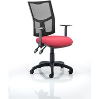 Eclipse II Task Operator Chair Mesh Adjustable Arms, Wine at Ryman Stationery