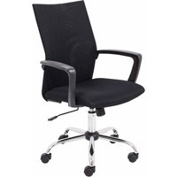 TC Office SOHO One Task Fixed Arm Mesh Chair, Black