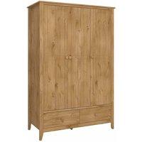 Steens Heston Pine 3 Door Wardrobe, Pine