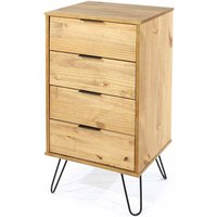 Augusta 4 Drawer Narrow Chest of Drawers, Pine
