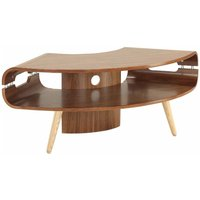 Jual Havana Curve Walnut Corner TV Stand  Walnut