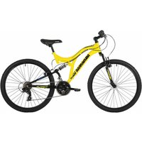 Barracuda Draco Dual Suspension Adult Mountain Bike 18 inch Frame, Yellow