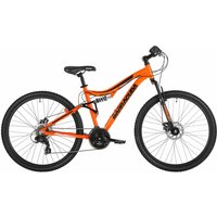 Barracuda Draco Dual Suspension and Disc Break Adult Mountain Bike 18 inch Frame, Orange