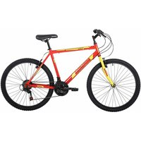 Barracuda Draco 1 Adult Mountain Bike 20 Inch Frame, Red/Yellow
