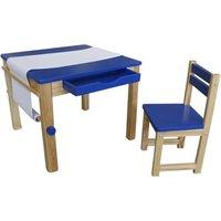 Tikktokk Childrens Boss Wooden Art Table and Chair, Blue
