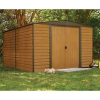 Rowlinson Woodvale Metal Garden Shed 10 x 12Ft