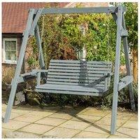 Rowlinson Palermo Garden Swing Seat, Grey