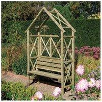 Rowlinson Rustic Arbour Garden Furniture