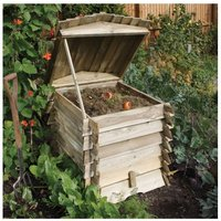 Rowlinson Beehive Wooden Composter, Natural