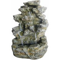 Charles Bentley Decorative Garden Stone Water Feature with LED Lights, Stone
