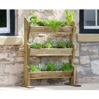 Zest4Leisure Vertical Garden Herb Stand, Wood