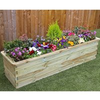 Zest4Leisure Wooden Sleeper Raised Bed 1.8m x 0.45m x 0.45m, Wood
