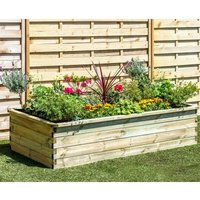 Zest4Leisure Wooden Sleeper Raised Bed 1.8m x 0.90m x 0.45m, Wood