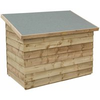 Rowlinson Overlap Patio Chest, Natural