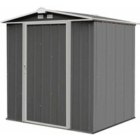 Rowlinson Metal Ezee Shed Grey 6ft x 5ft, Charcoal
