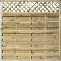 Rowlinson Halkin Garden Screen Fencing 6ft x 6ft Pack of 3, Natural