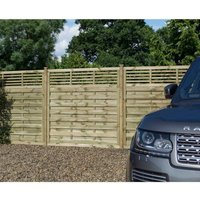 Rowlinson Langham Garden Screen Fencing 6ft x 6ft Pack of 3, Natural